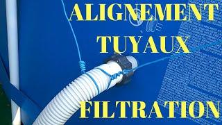 INTEX ALIGNEMENT DES TUYAUX DE FILTRATION