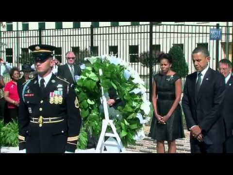 President Obama Attends 9/11 Memorial Service at the Pentagon