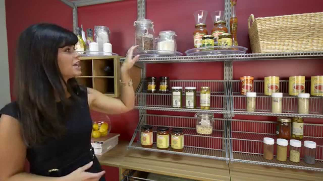Quick Tips W/ Amanda Leblanc: Pantry Shelving Organization | OrganizedLiving.com    YouTube