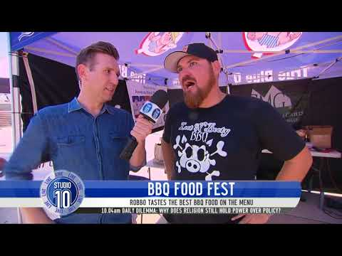 Robbo Has A Taste Of The BBQ Food Fest | Studio 10