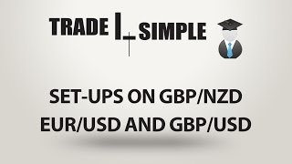 Learn Forex - Set-ups on GBP/NZD EUR/USD and GBP/USD