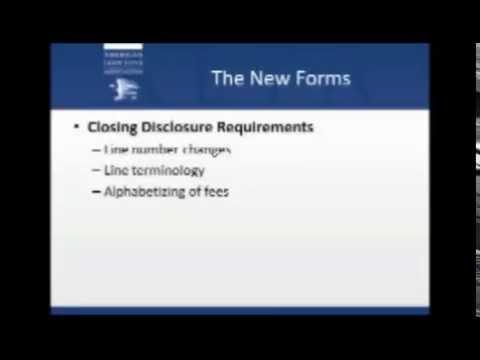 Closing Disclosure Rules