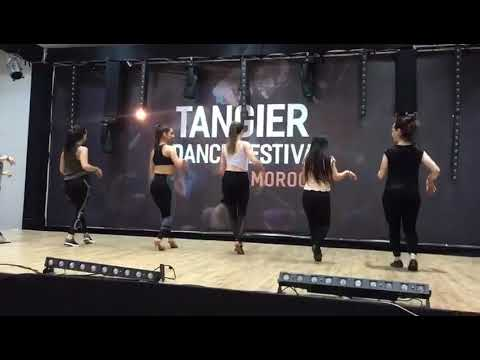 Edyta Czagowiec Salsa lady styling with music @ Tangier dance festival 2018