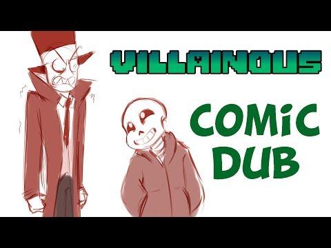 Sans Meets Black Hat - Undertale/Villainous Comic Dub