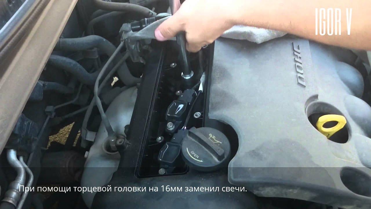 KIA CEED FL 1.6 (бензин) 2011 г.в. Замена свечей зажигания и воздушного фильтра.