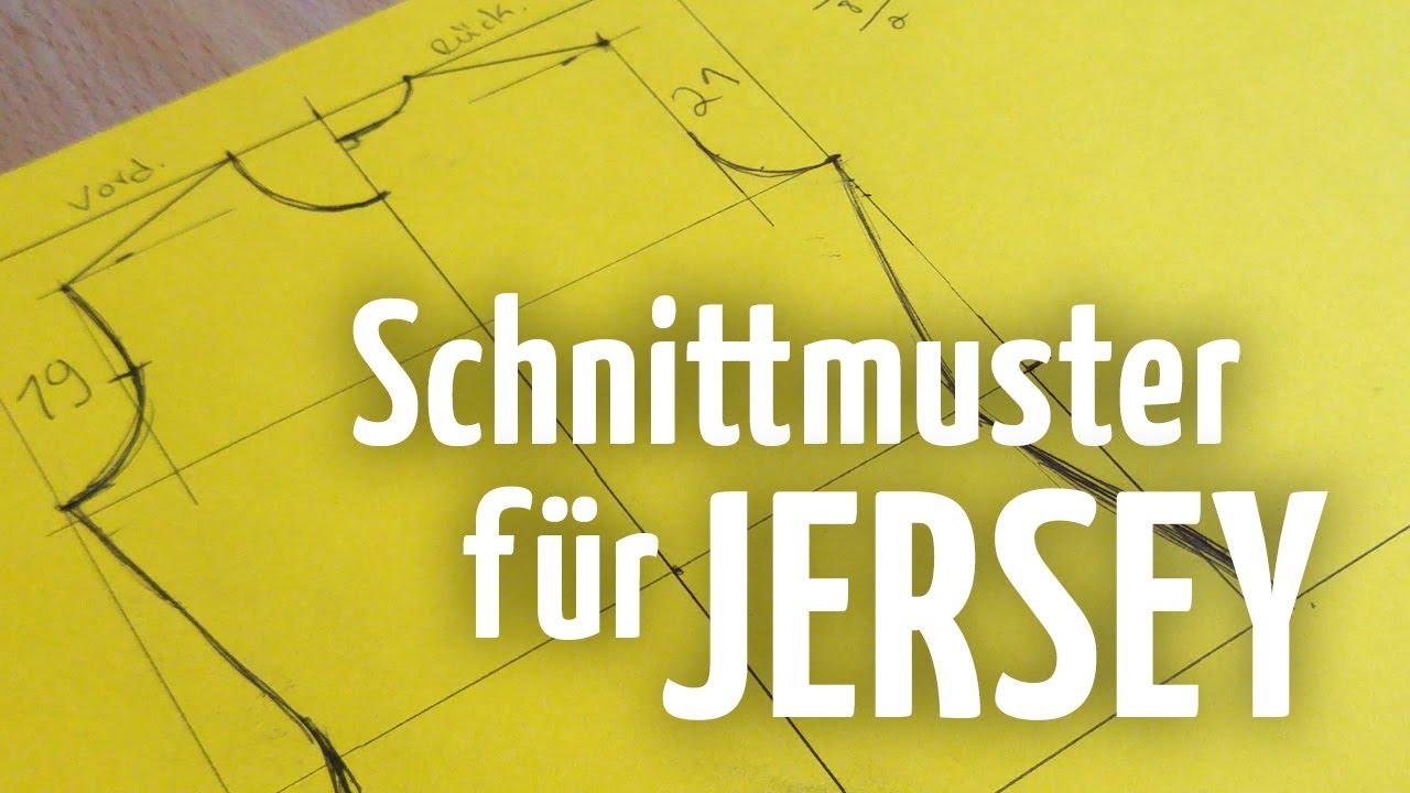 Schnittmuster für Jersey // Oberteil + Ärmel - YouTube