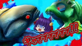 【ゆっくり実況】うp主、サメに食べられる!?凶暴すぎるサメが大変なことを…!!【Feed and Grow Fish】