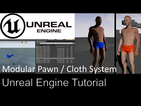 Unreal Engine 4 - Realistic Cloth Physics by K putt