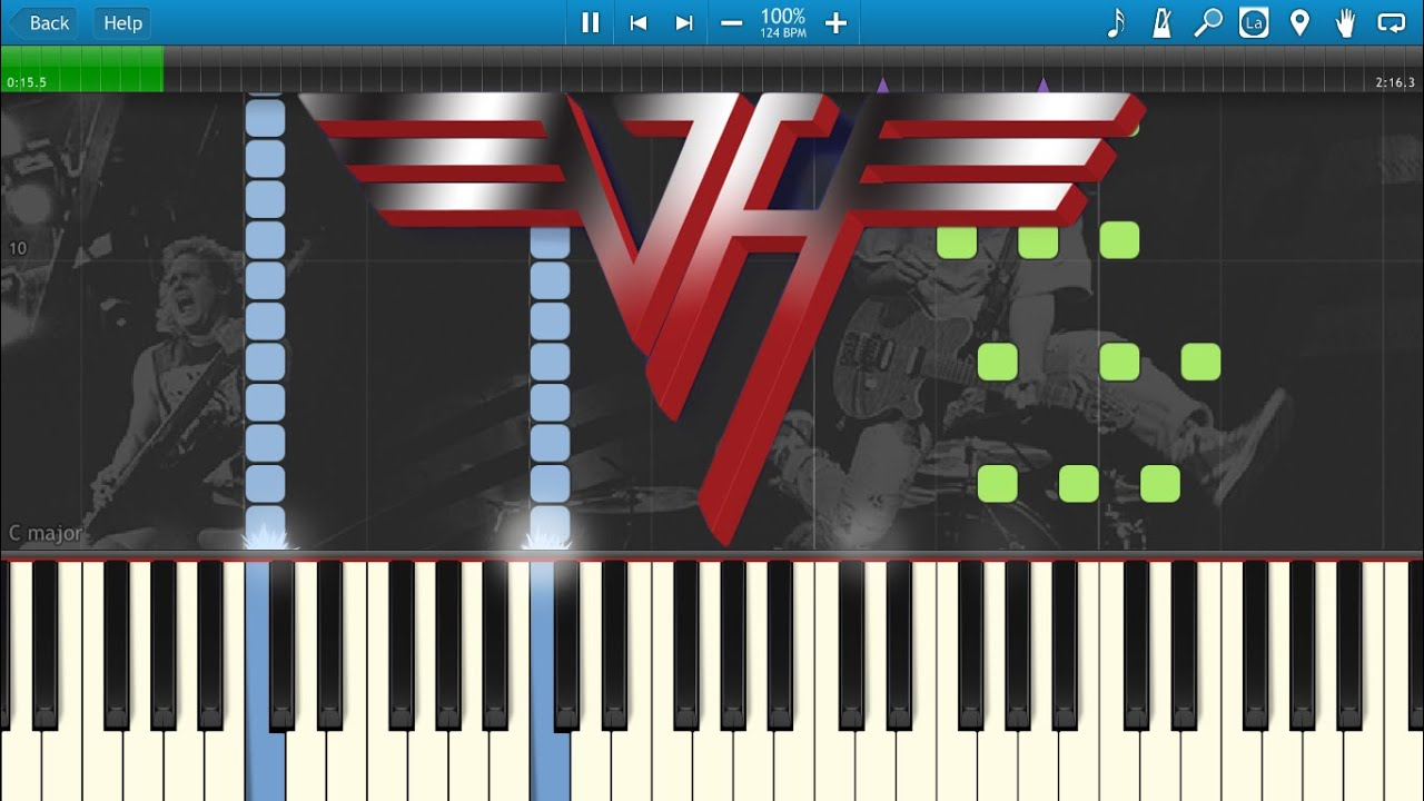 Van Halen - Jump (Piano) Synthesia Animation - YouTube