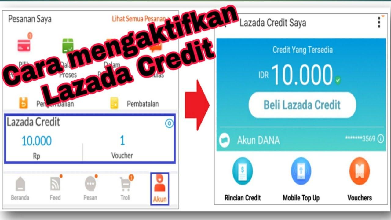 Cara Mengaktifkan Lazada Credit Youtube
