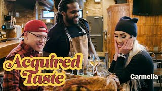 Tim Chantarangsu and WWE's Carmella Try Whole Smoked Alligator | Acquired Taste