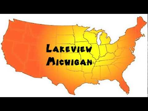 Lakeview Michigan Map.How To Say Or Pronounce Usa Cities Lakeview Michigan Youtube