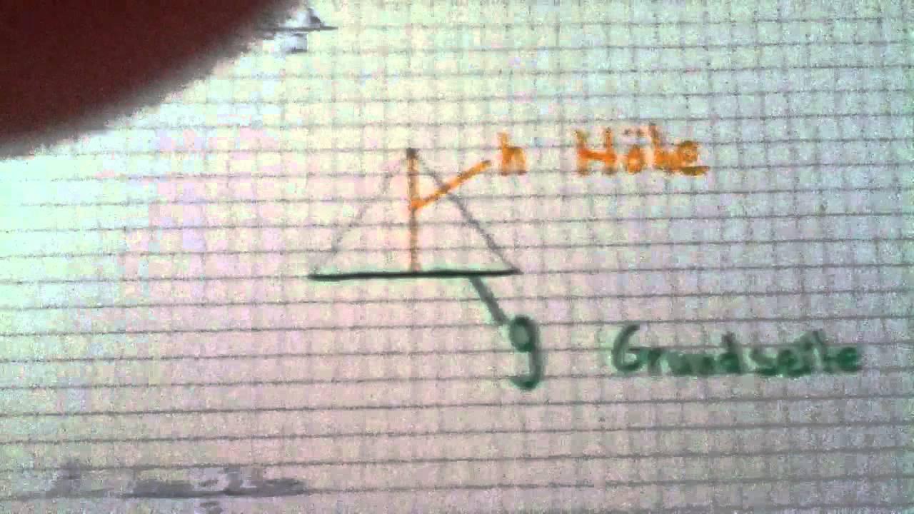 Mathe: Flächeninhalt eines Dreiecks - Geometrie für Anfänger - YouTube