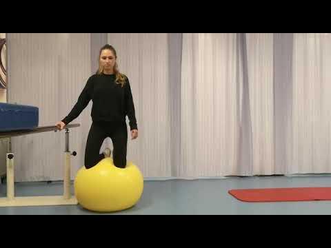 Balanceren op de bal, fysiotherapie Máxima MC
