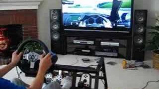 Testing my new custom Gran Turismo 5 cockpit (with G25)