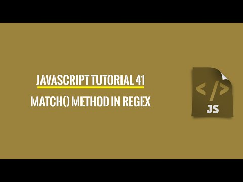 JavaScript - 37. String methods: match(), and replace() from YouTube · Duration:  4 minutes 20 seconds