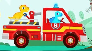 Fire Truck Rescue - Dinosaur Fire Fighters | Eftsei Gaming