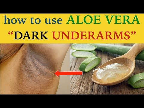 3 ways to use aloe vera to get rid of dark underarms | home remedies by simplistic Tuber