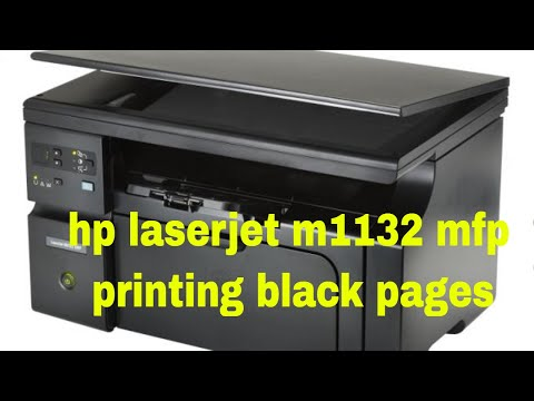 hp laserjet m1132 mfp printing black pages
