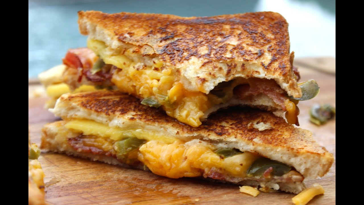 FANCY GRILLED CHEESE SANDWICH a.k.a Peach, Bacon and Jalapeño Grilled ...