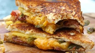 How To Make A Fancy Grilled Cheese Sandwich A.k.a Peach, Bacon And Jalapeño Grilled Cheese