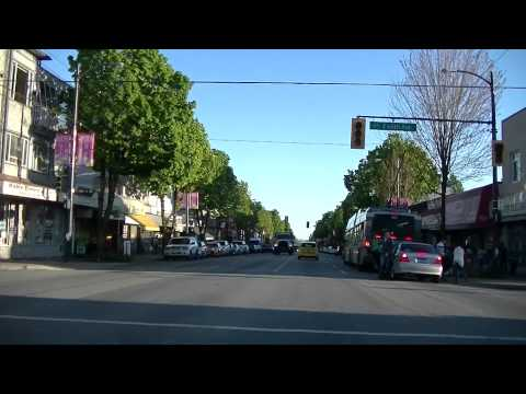 FRASER street - Vancouver City Drive - Driving in CANADA - Tourism Sightseeing Tour - JAZZ BGM