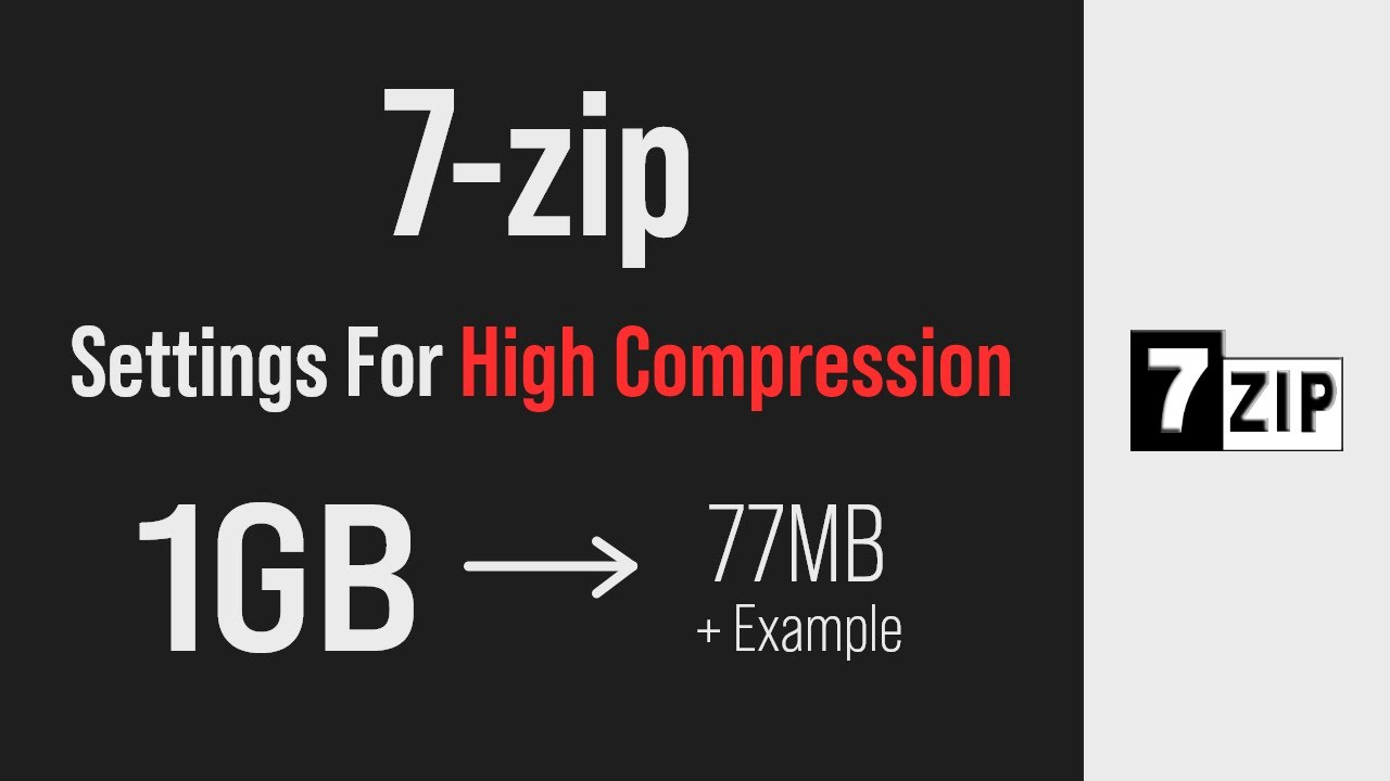 Best Compression Settings I Found for 7-Zip (with examples)