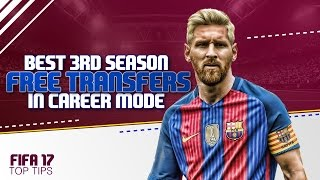 FIFA 17 Top Tips | Best 3rd Season Free Transfers in Career Mode!!!