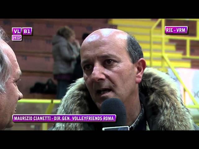 Interviste Rieti vs Volleyfriends RM