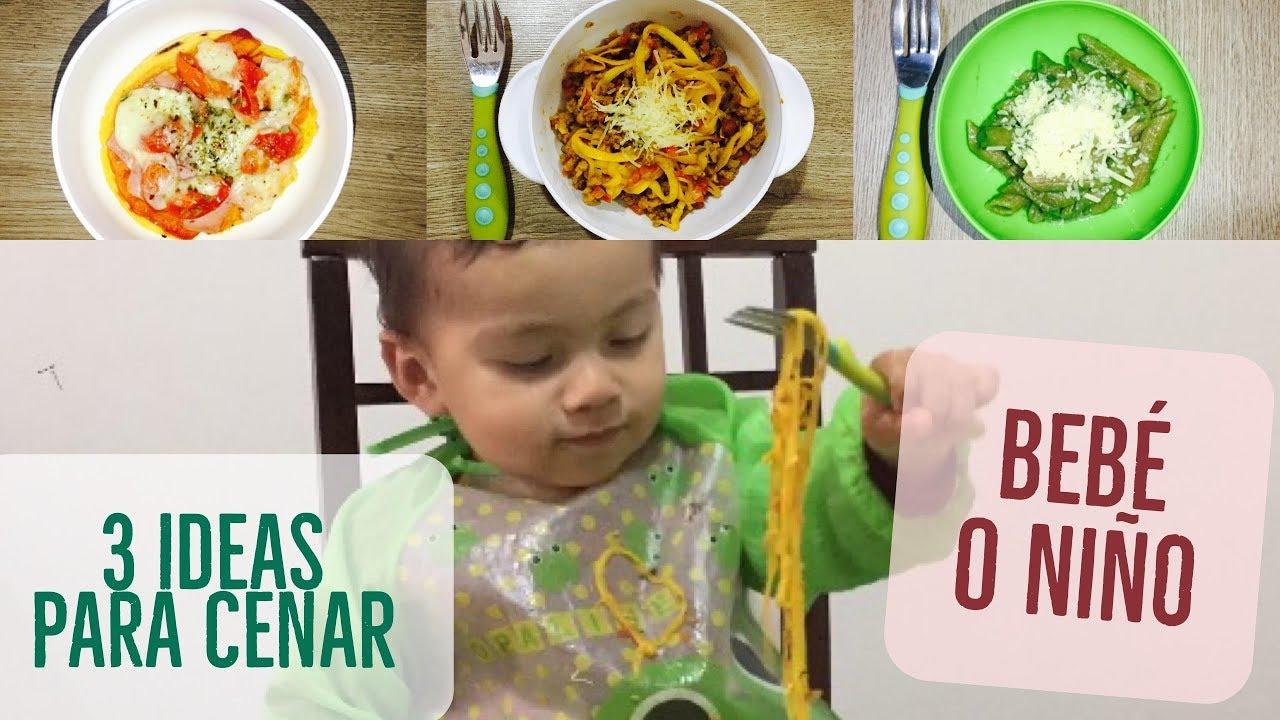 3 Cenas Rápidas Y Faciles Para Tu Bebé O Niño Ideas Recetas Blw Mamá Enfermera Youtube