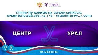 Хоккейный матч. 13.06.19. «Центр» - «Урал»