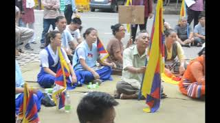 Tibetan people protest against China in New Delhi