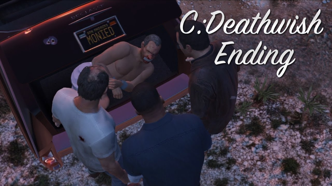 GTA 5 Last Mission Third Way C Deathwish Ending Paitent Report After  Credits Best Ending