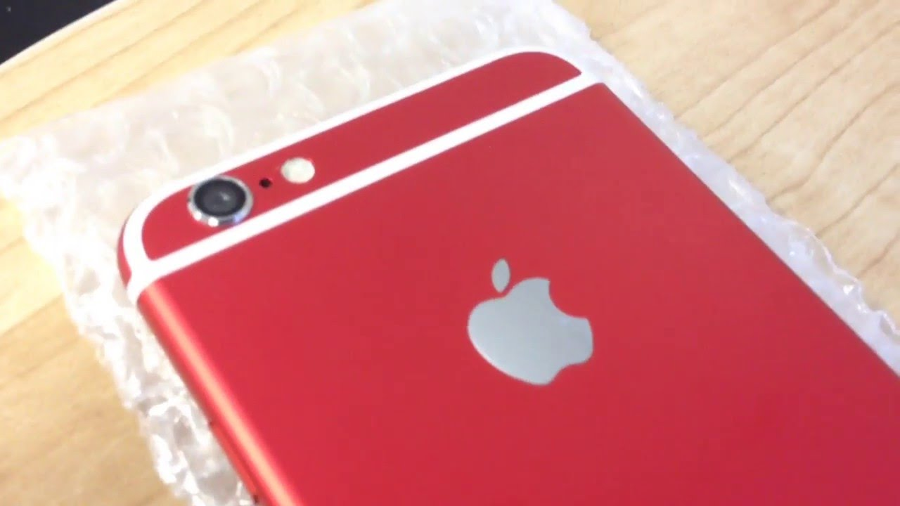 the latest 3bd55 ea209 iPhone 6 Custom Red Housing