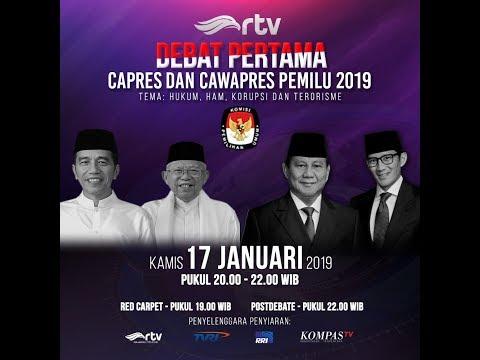 [Live RTV] Debat Pertama Capres dan Cawapres Pemilu 2019