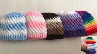 Baixar Easy crochet hat/ Kids two in one crochet hat.