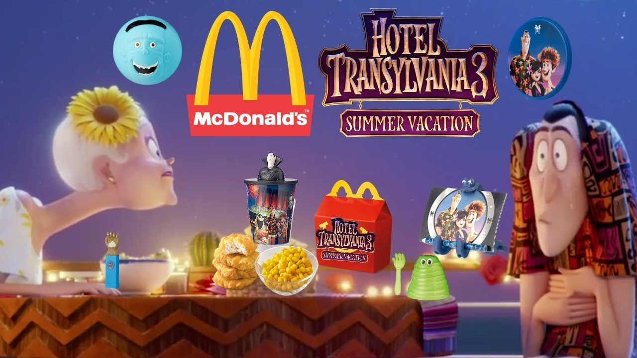 MCDONALDS HOTEL TRANSYLVANIA 3 HAPPY MEAL FULL SET OF 12 MOVIE TOYS PREVIEW COMMERCIAL 2018