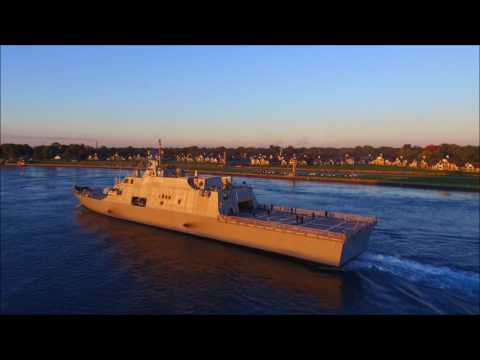 USS DETROIT - Downbound Port Huron, Michigan 10-14-2016