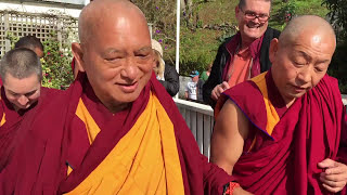 Lama Zopa Rinpoche takes a tour at Dorje Chang Institute in Auckland