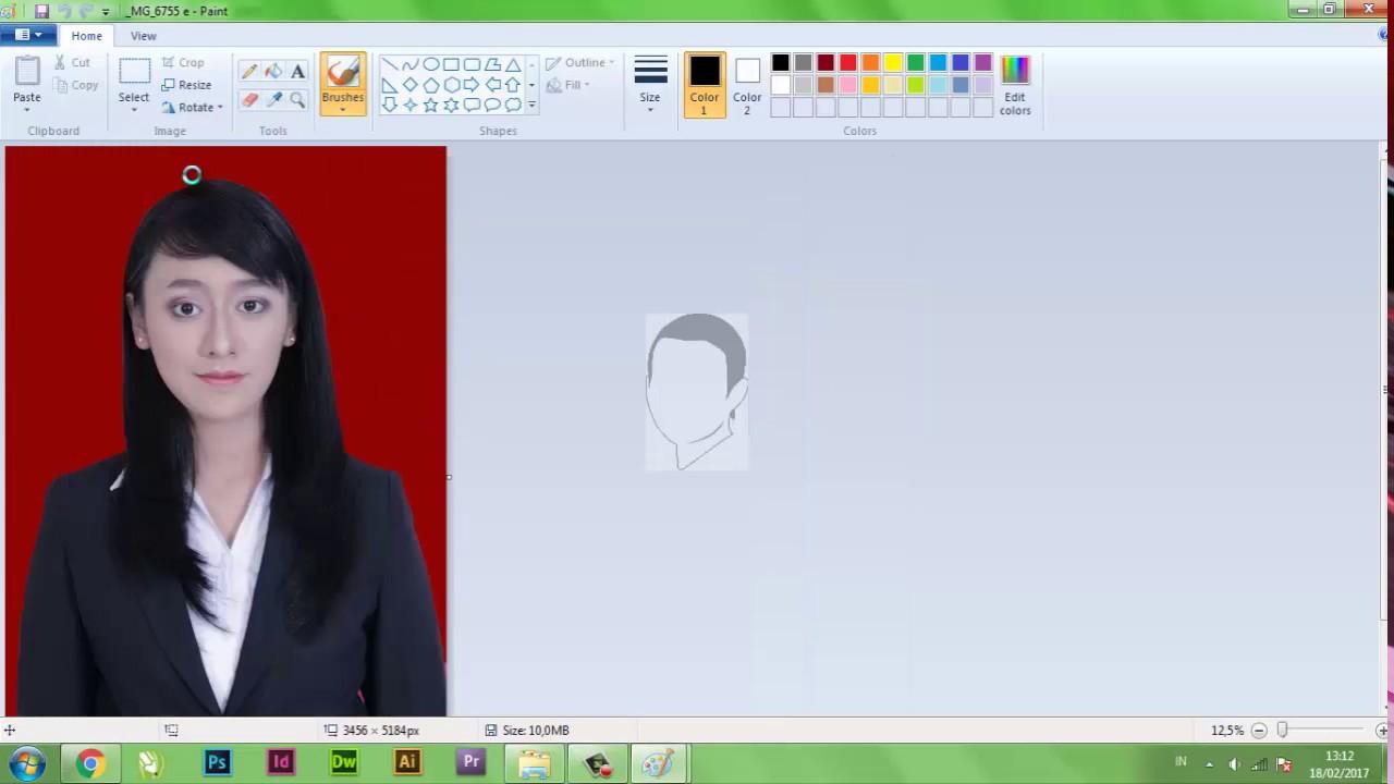 Mengecilkan Ukuran Foto Dengan Paint Youtube