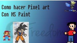 Como hacer Pixel Art en MS Paint (Paint de Windows XP) [TutoFlash]