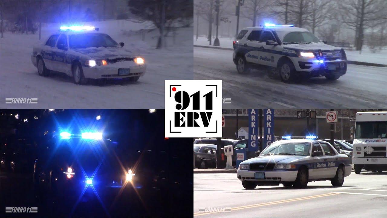 Boston Police Department Responding [Compilation]