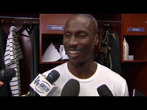Andre Ingram after going off for 19 points in his debut for the Lakers