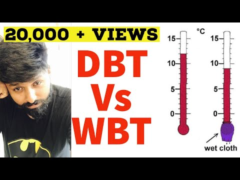 Difference between Dry bulb temperature and wet bulb temperature DBT vs WBT : RAC lectures