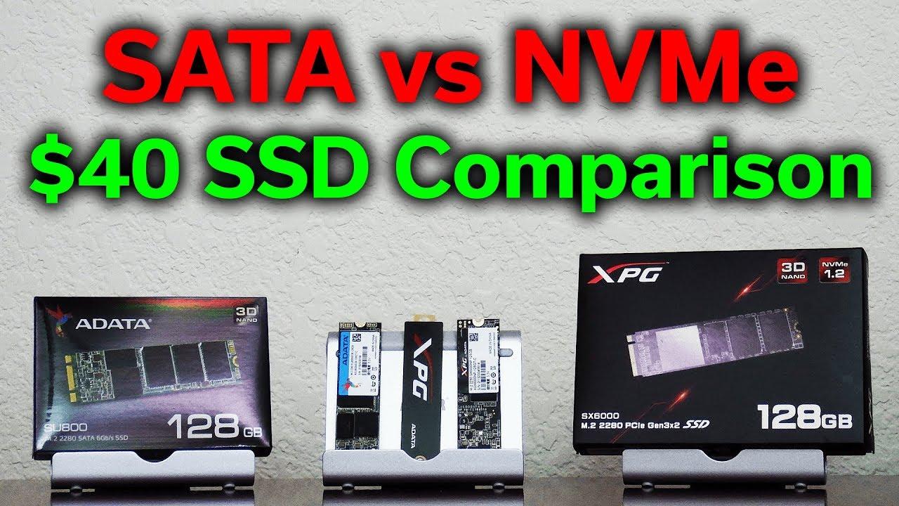 SATA vs NVMe - $40 Budget SSD Comparison - Which Should You Buy?