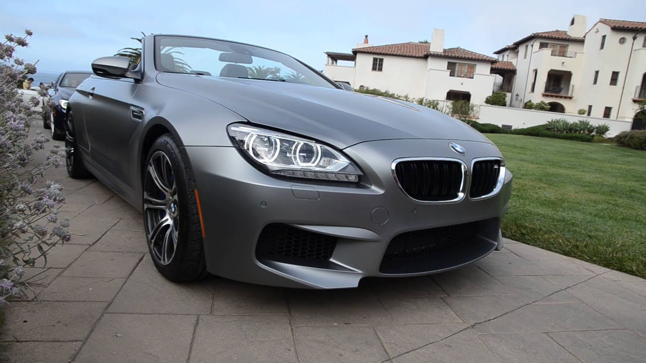 Bmw M6 Convertible In Frozen Grey Youtube