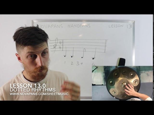 Dotted Rhythms | Lesson 13 | Handpan Lessons | NovaPans Handpans