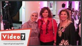 علاء الكحكى وإلهام شاهين وهالة سرحان فى حفل سحور مستشفى بهية