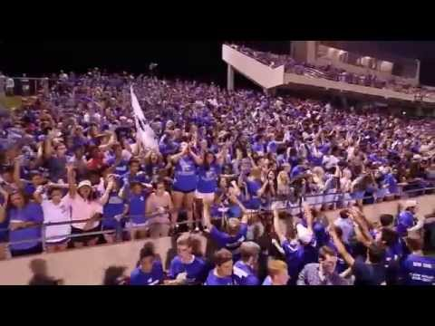 Cy-Creek Drumline with Student Section - 10/24/2014
