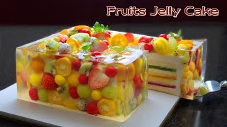 Cup Measure / Amazing Cake / Beautiful Fruit Jelly Cheesecake Recipe / Vanilla Sponge Cake